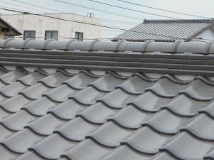 屋根漆喰工事 施工後2