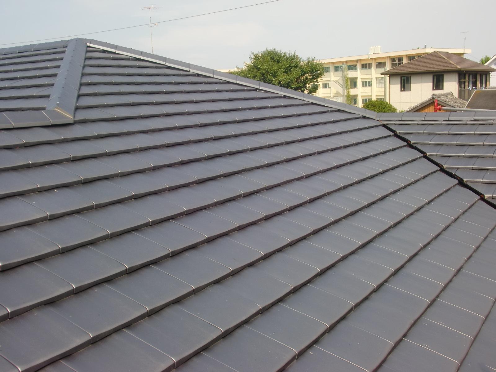 フラット瓦 新築屋根工事