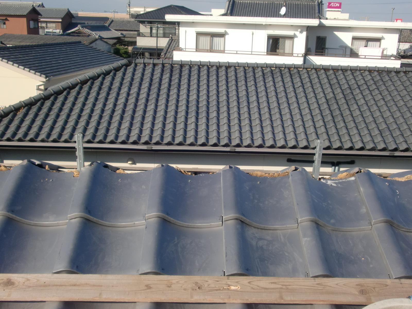 日本瓦の耐震棟金具