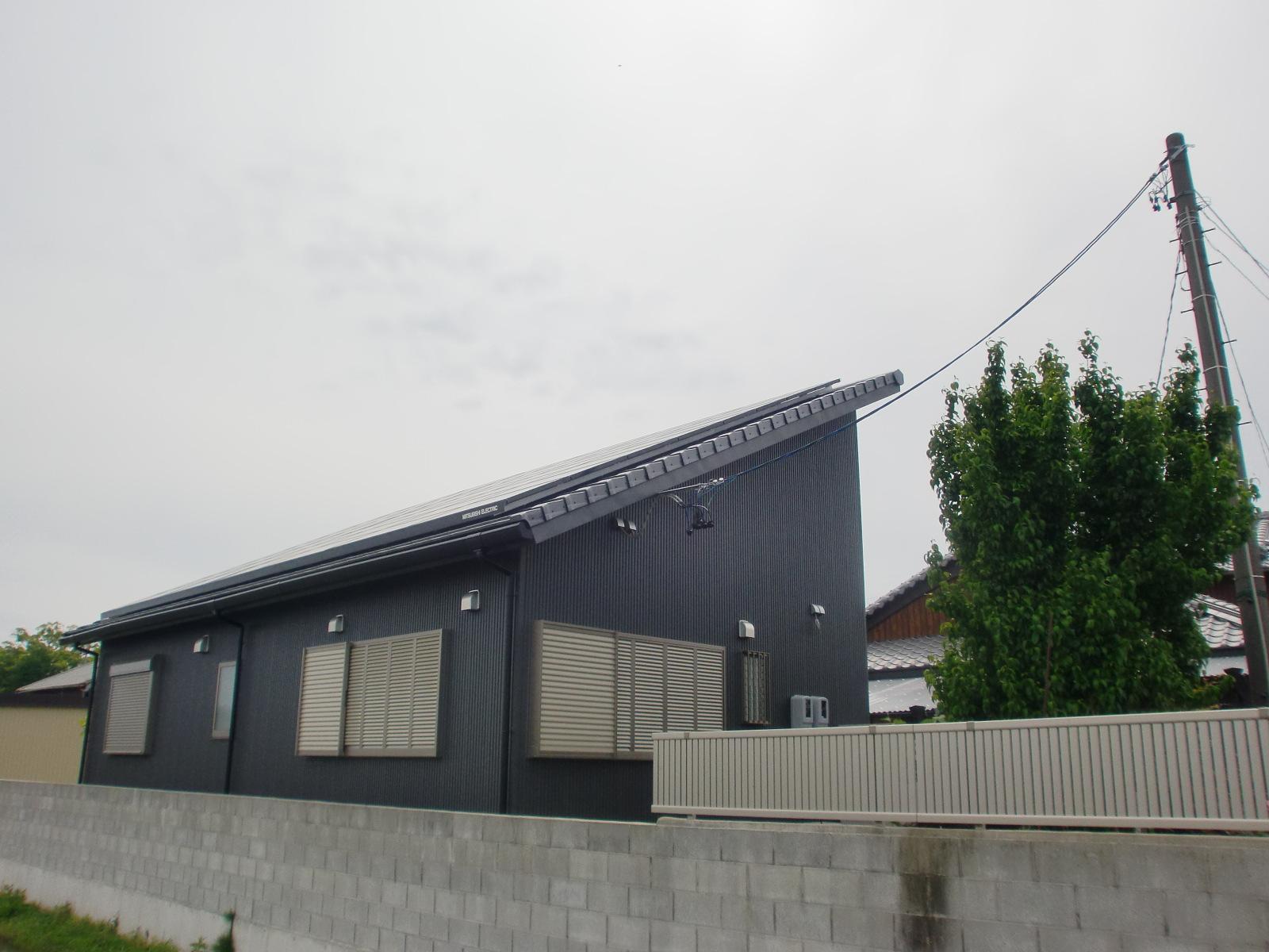 平板瓦新築屋根工事