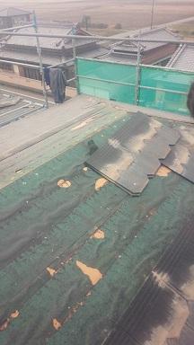 明和町 コロニアル葺き替え工事