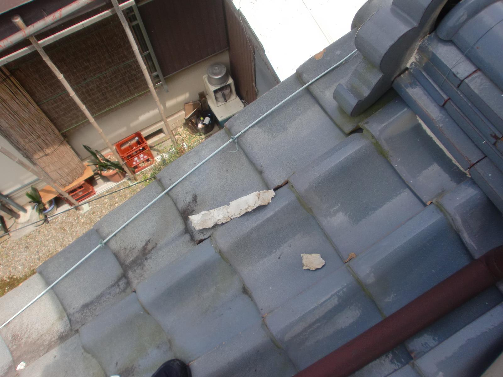 松阪市で 鬼首 漆喰修理