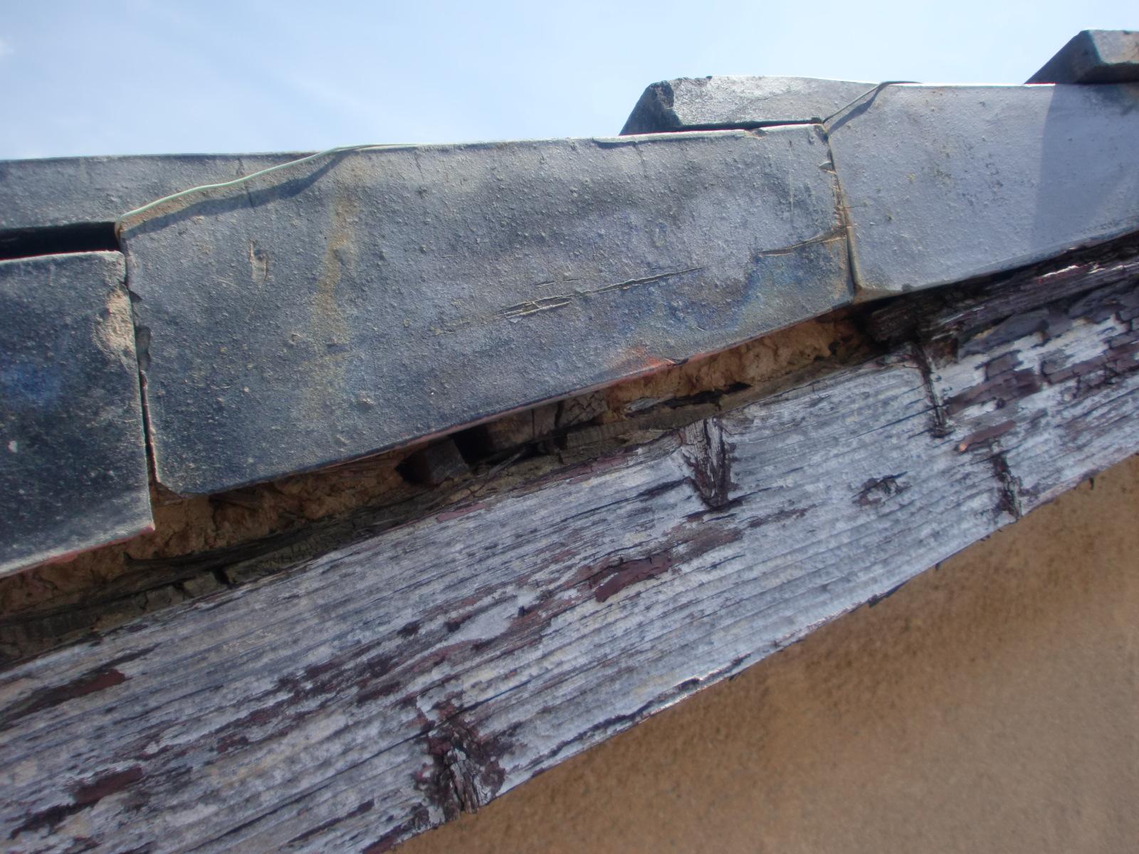 津市 ケラバ部分雨漏り修理