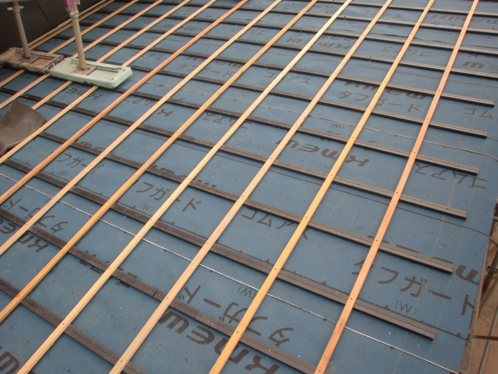 耐震屋根施工