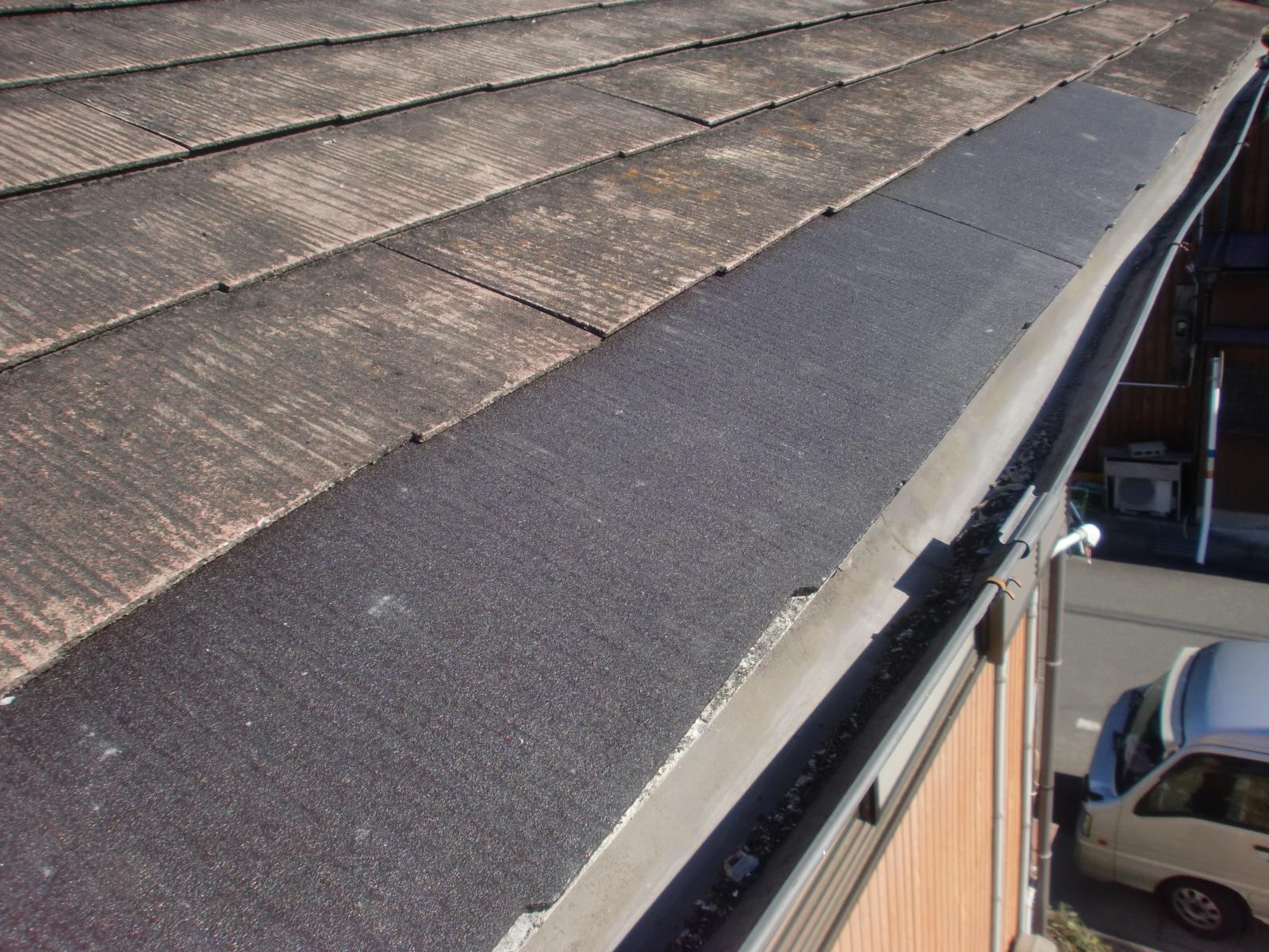 津市T様邸 コロニアル(カラーベスト)の屋根修理