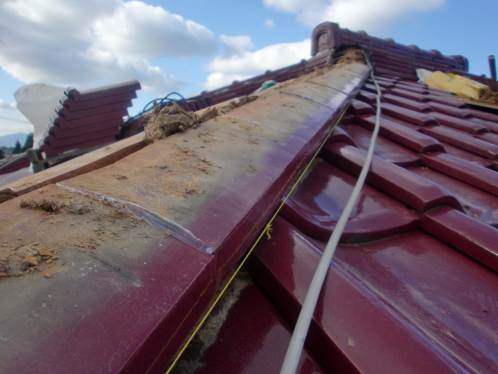 棟かわらの雨漏り修理