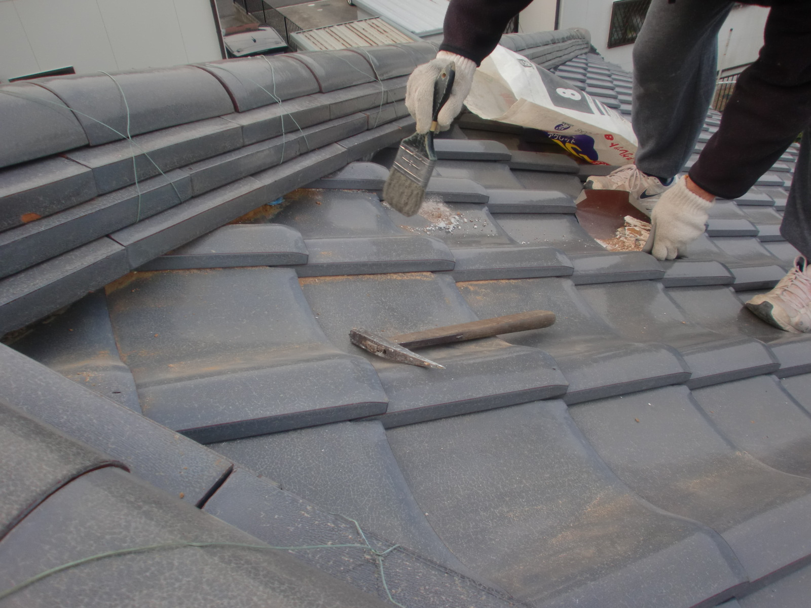 津市高茶屋で屋根修理