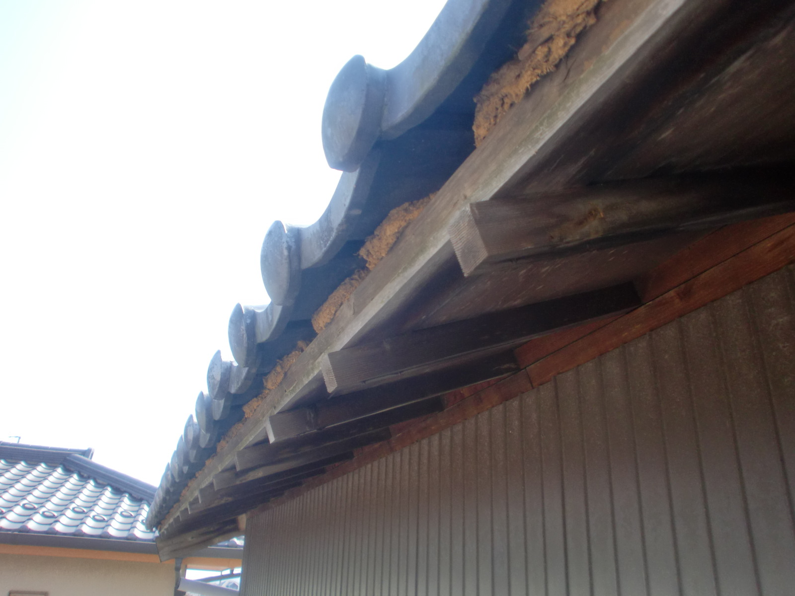 亀山市関町で樋修理・瓦修理