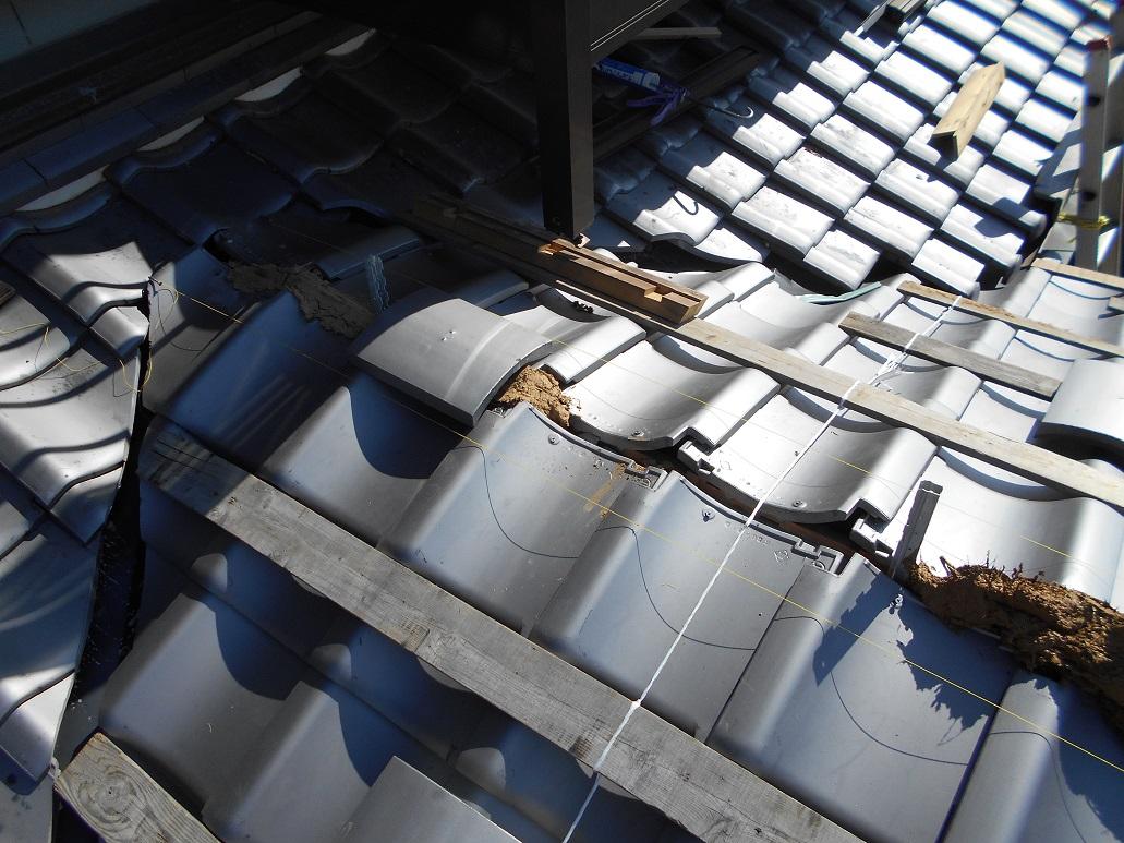 ガイドライン工法(耐震)での屋根工事