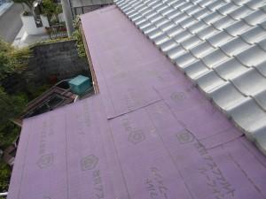 瓦棒屋根 ルーフィング 施工