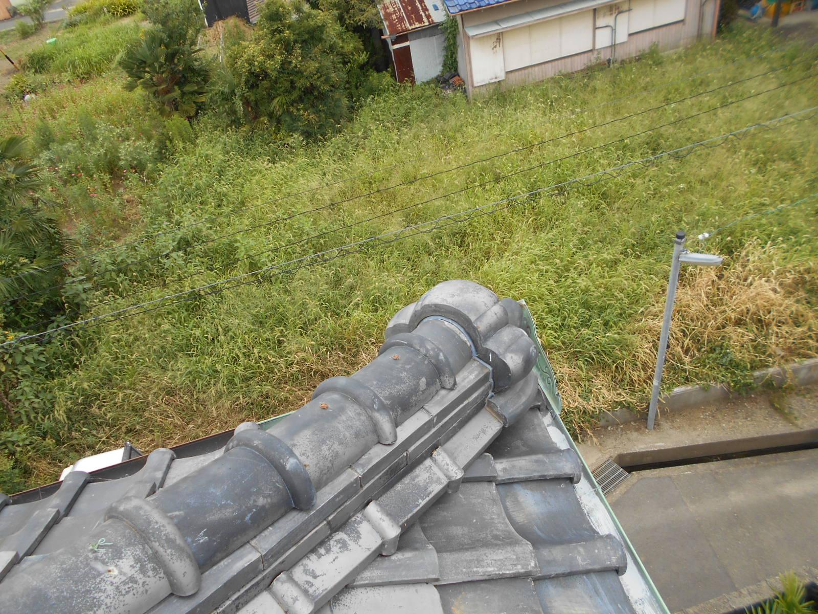 隅棟鬼瓦の屋根修理 津市
