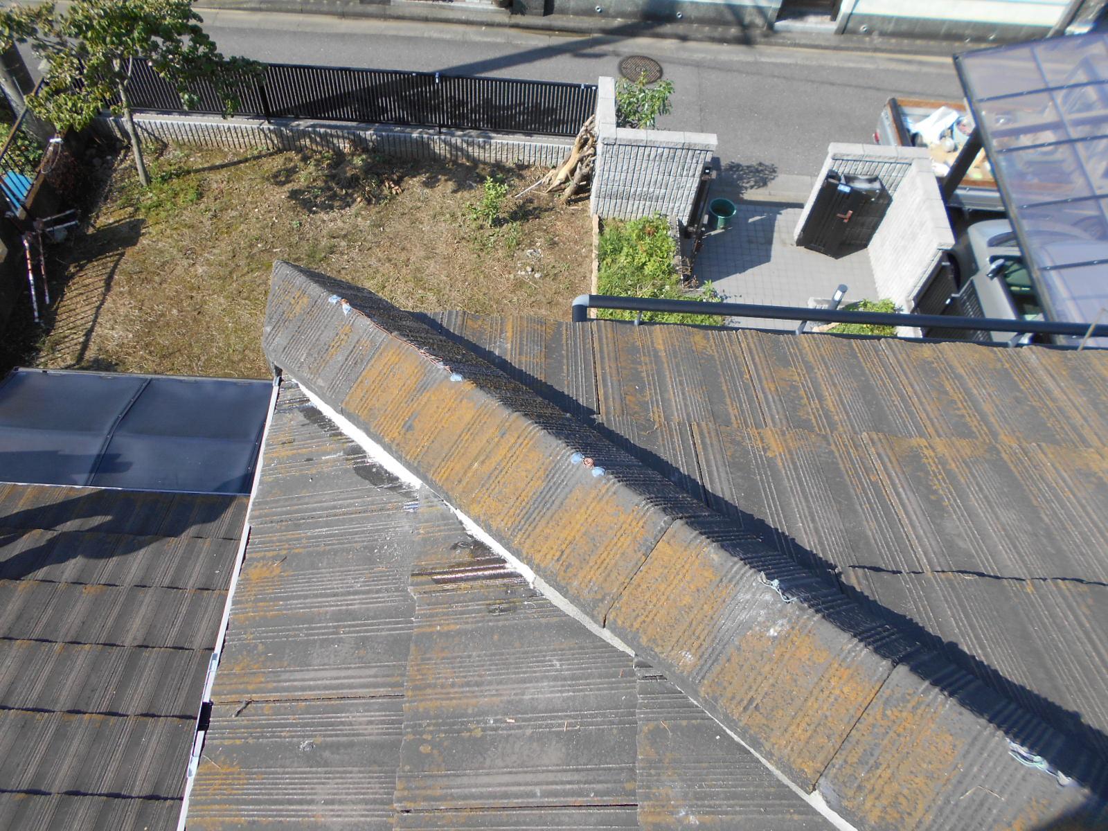 セメント瓦の屋根修理 鈴鹿市