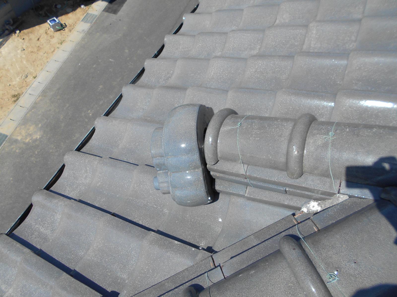 鬼瓦の屋根修理 鈴鹿市