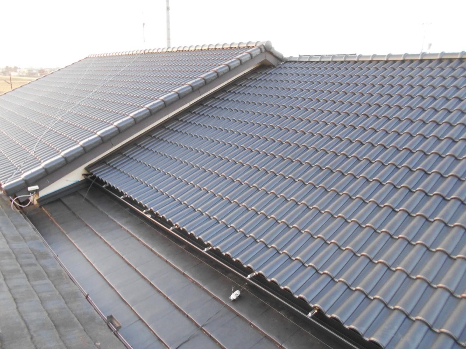 津市香良洲町で屋根葺き替え工事