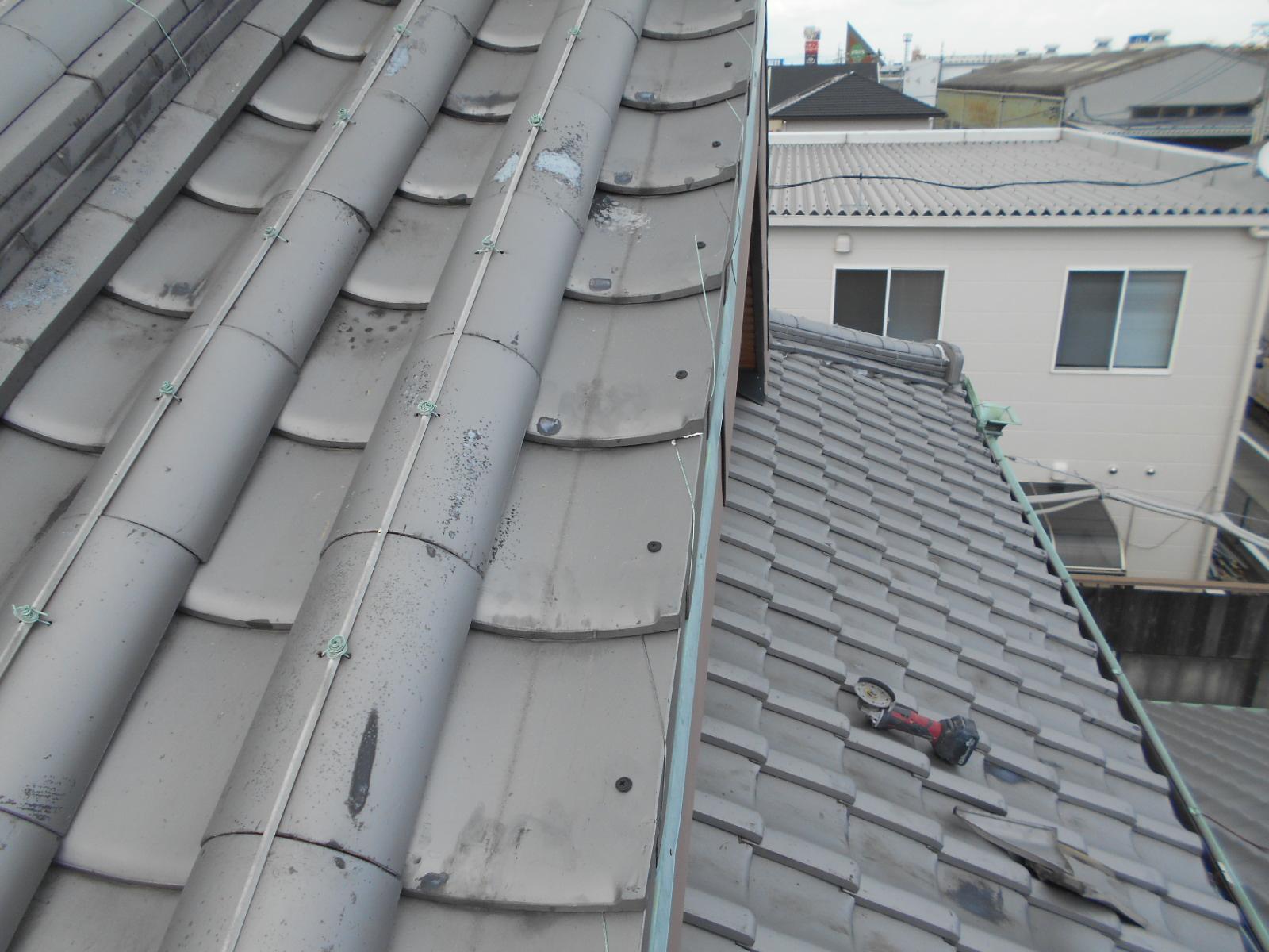 屋根瓦 補強工事